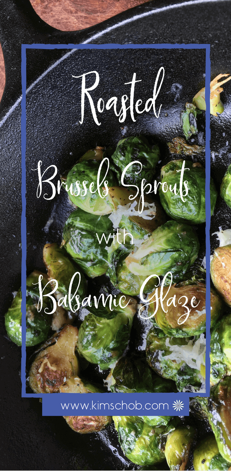 These Roasted Brussels Sprouts with its rich balsamic glaze flavor enhanced with just a hint of sweetness. makes this side dish beyond basic | kimschob.com