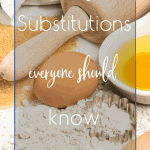 Baking substitutions everyone should know | kimschob.com