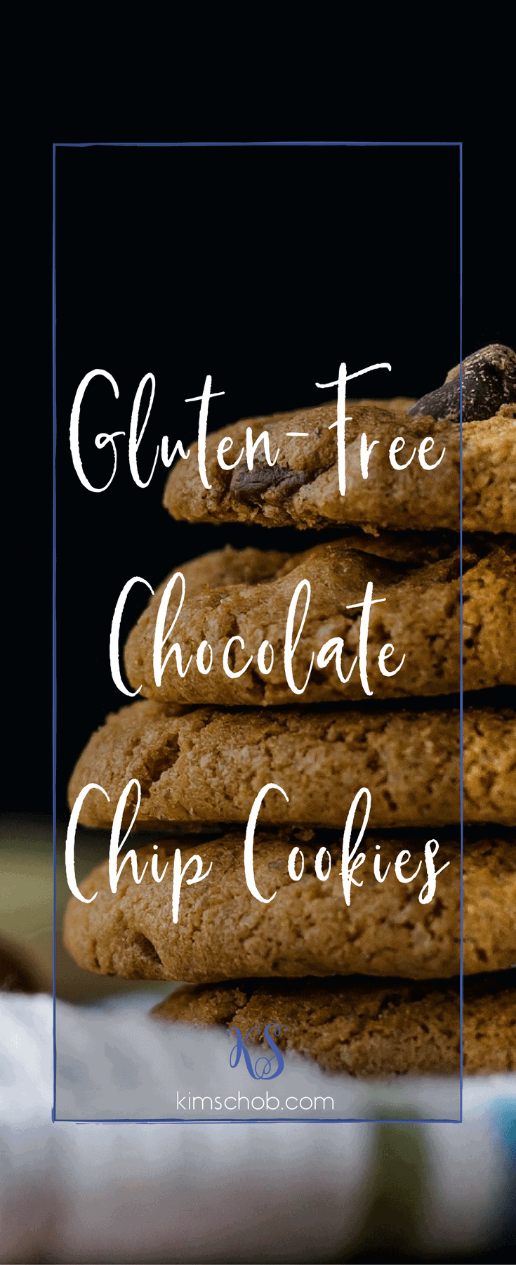Gluten-free chocolate chip cookies| kimschob.com | Halloween treats. Party treats. Gluten-free treats. #kimschob #glutenfree #glutenfreechocolatechipcookies
