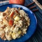 Slow Cooker-Apple-Cinnamon Oats | kimschob.com #slowcooker