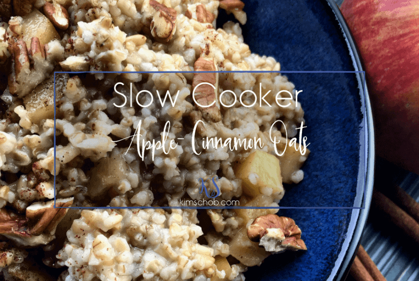 Slow Cooker-Apple-Cinnamon Oats | kimschob.com