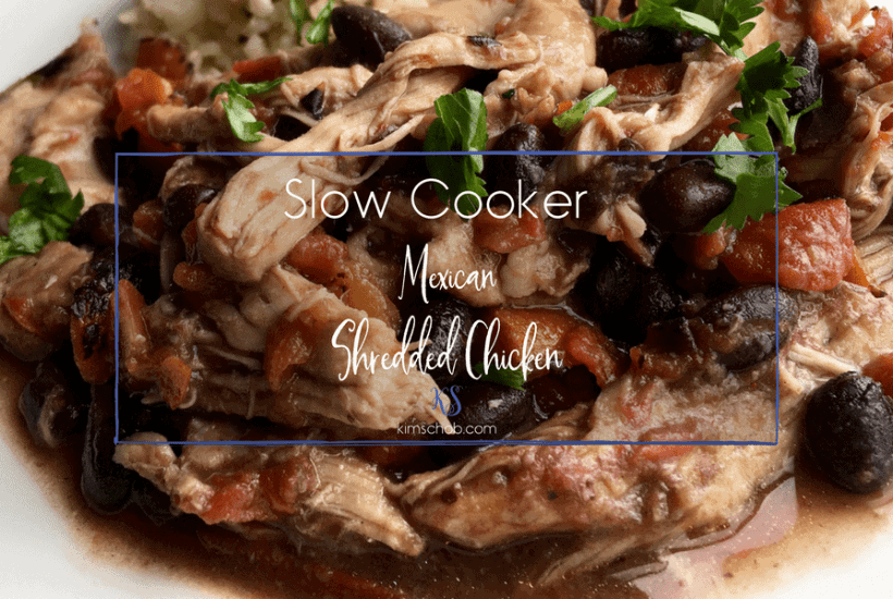 Slow Cooker Mexican Shredded Chicken | kimschob.com