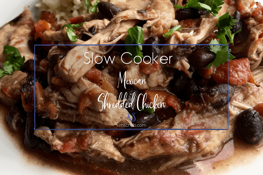 Slow Cooker Mexican Shredded Chicken | kimschob.com#slowcooker