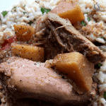 Slow Cooker-Spicy Pineapple Pork Butt Roast | kimschob.com