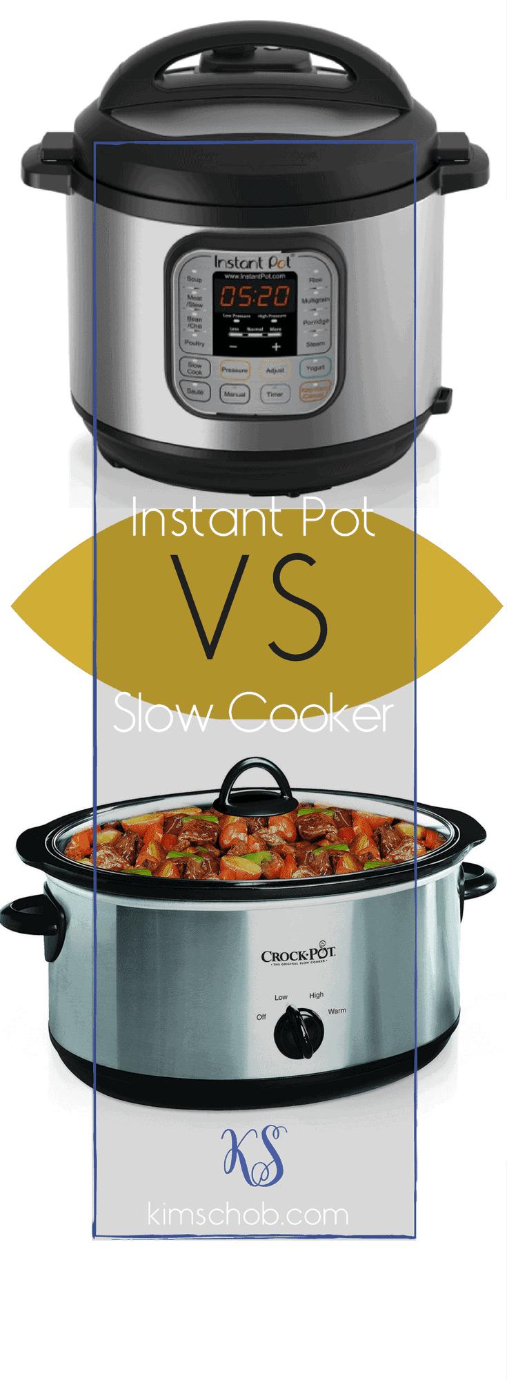 Instant Pot vs Slow Cooker | Winner? Go to the Cards/Blog #slowcooker #instantpot #kimschob