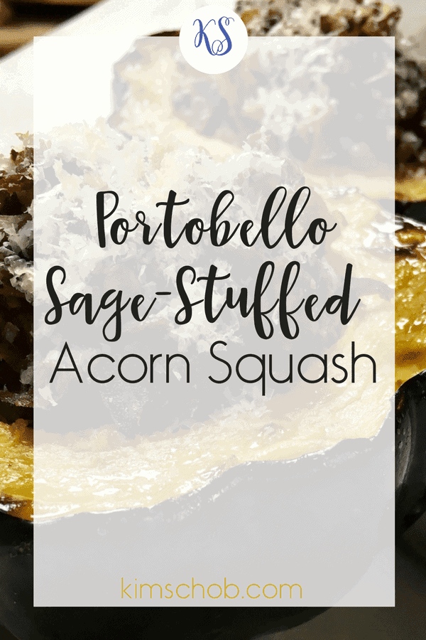 Portobello Sage-Stuffed Acorn Squash | kimschob.com