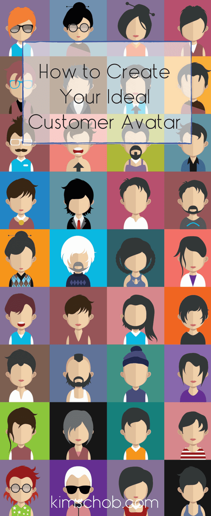 How to Create Your Ideal Customer Avatar | FREE Checklist | It is easier than you might think | kimschob.com | #customeravatar #idealcustomer #createcustomeravatar