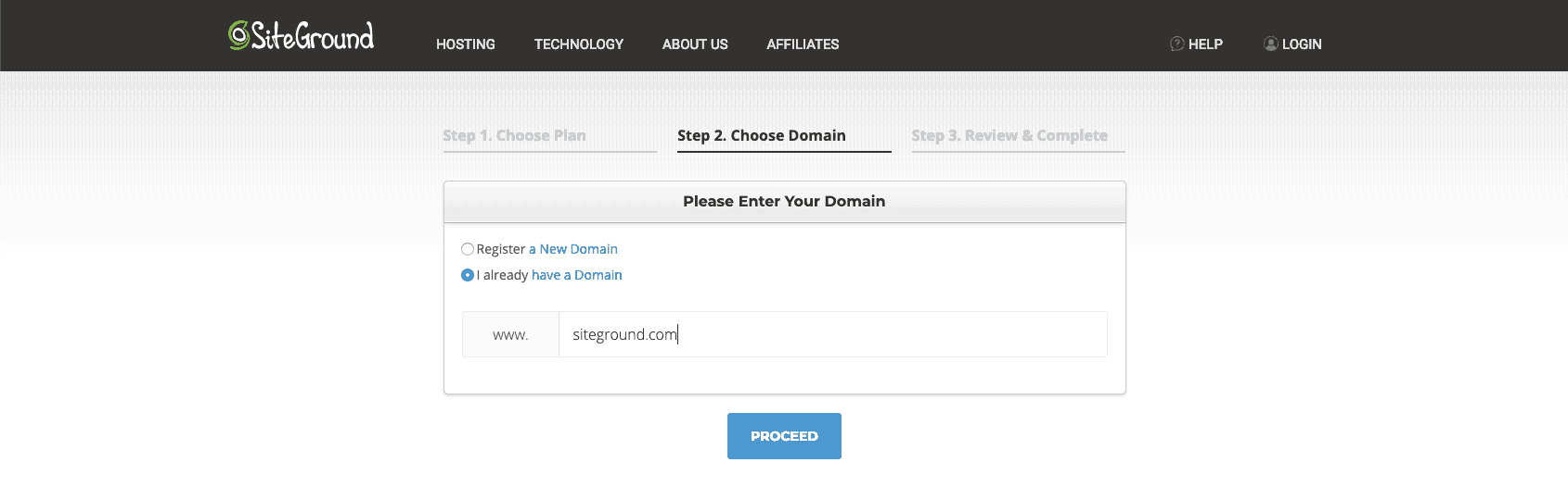SiteGround web hosting step 2 | kimschob.com