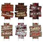 wood signs grave-yard theme | kimschob.com