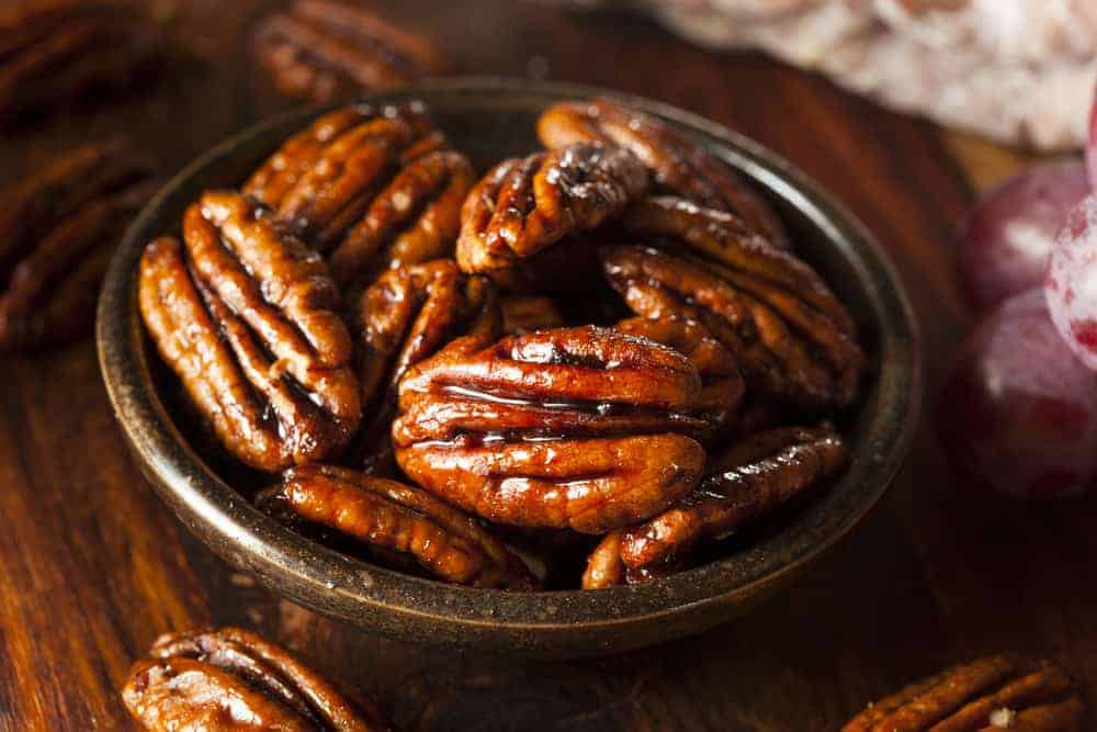 homemade candied pecans thanksgiving side dish recipe | kimschob.com