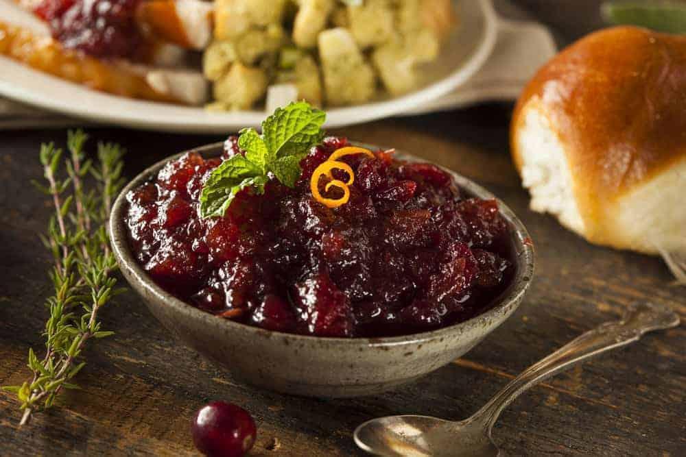 homemade cranberry sauce-rosemary ginger thanksgiving side dish | kimschob.com