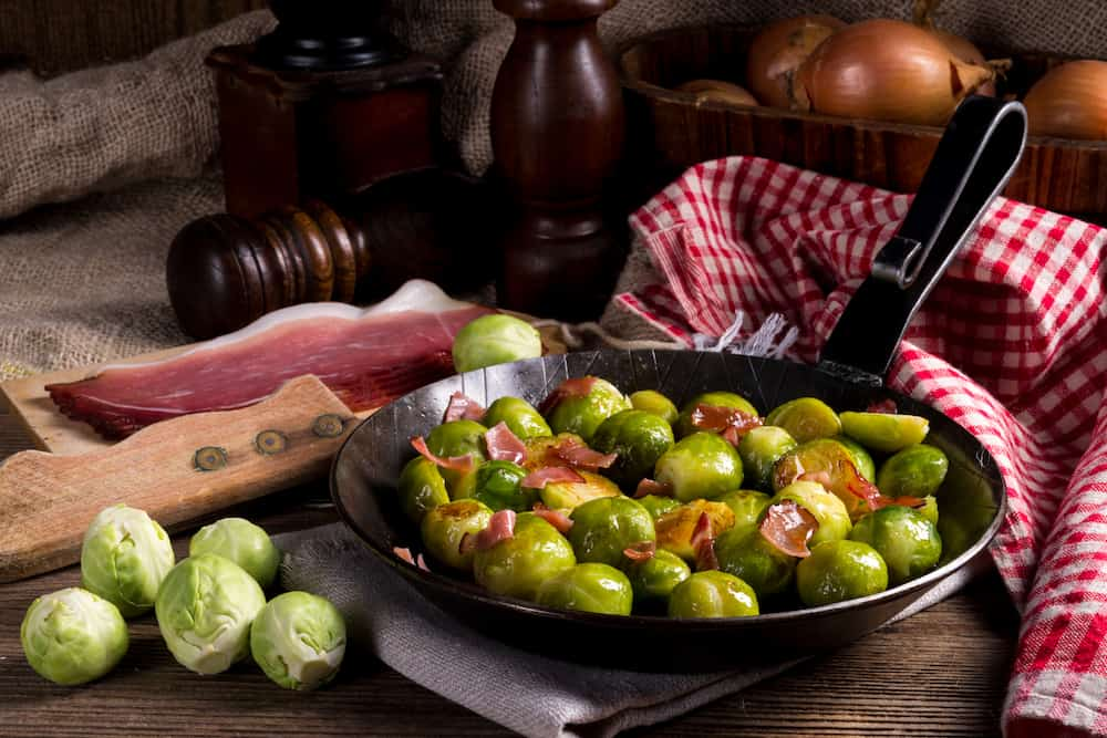 roasted-brussels-sprouts-balsamic-glaze-recipe-thanksgiving-side-dish | kimschob.com