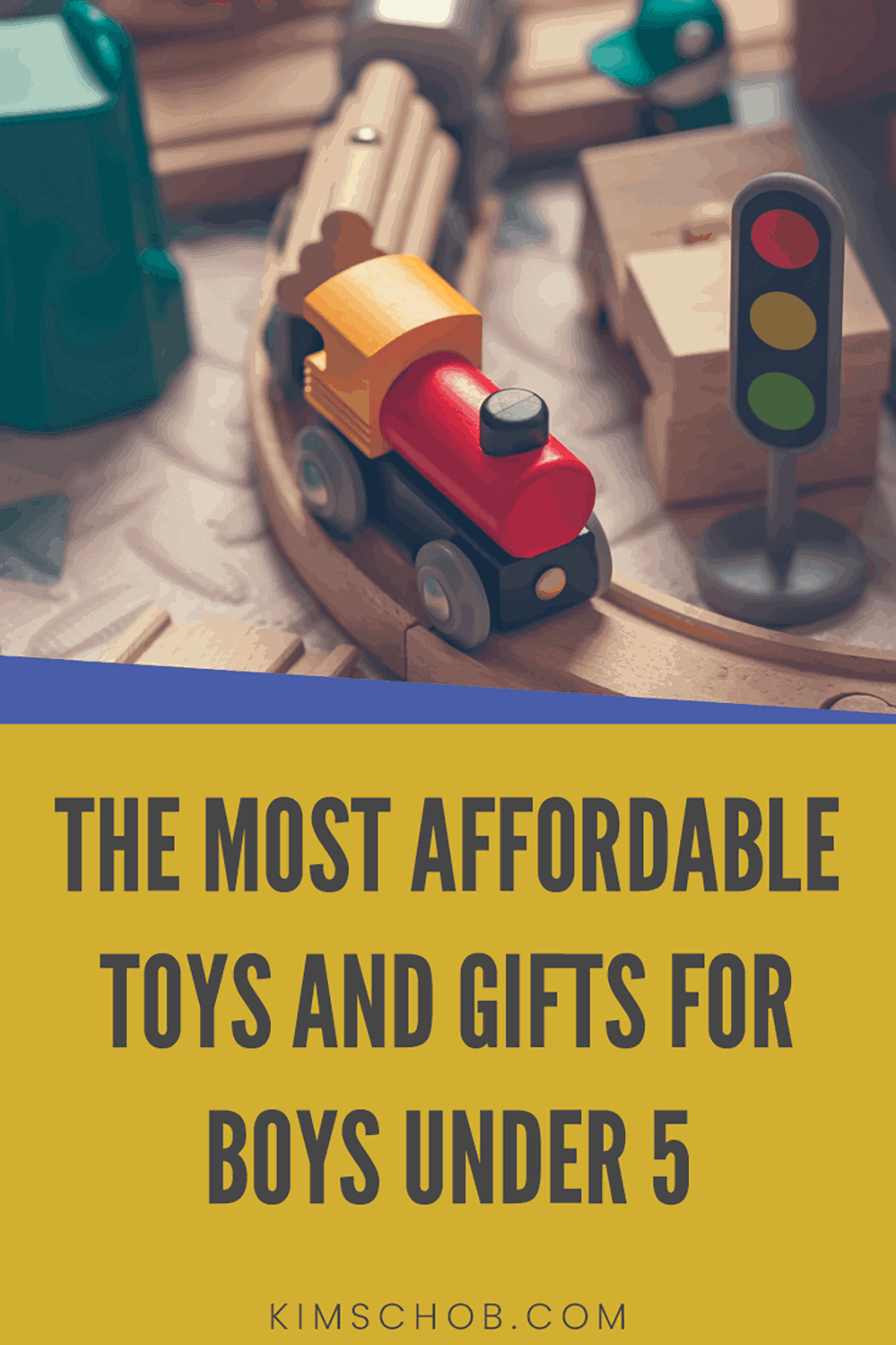 wooden train set gifts for boys | kimschob.com