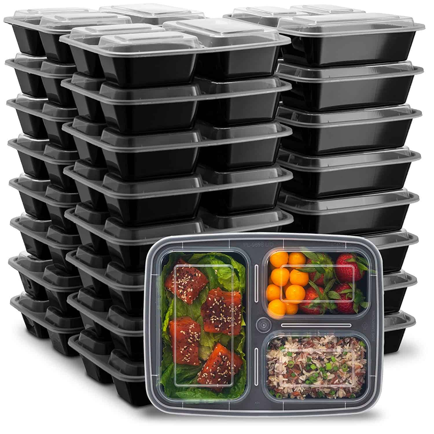 compartment meal prep containers with lids | kimschob.com