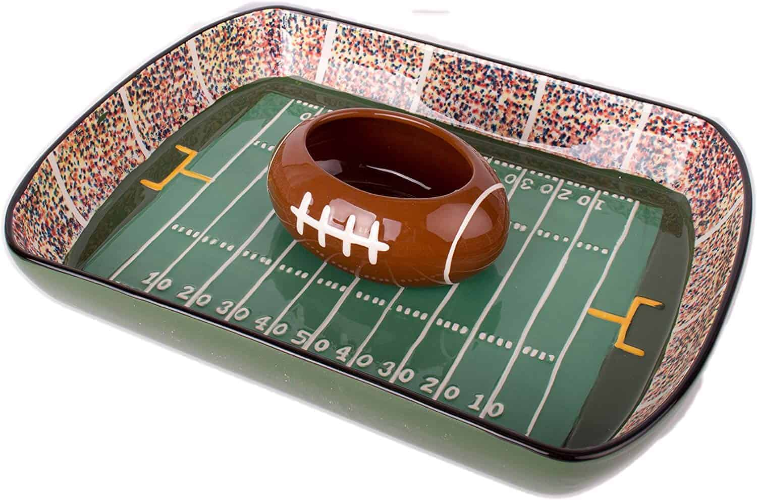 football stadium chip and dip sports serving set | kimschob.com