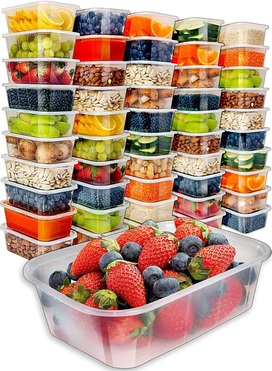 food storage containers with lids meal prep | kimschob.com