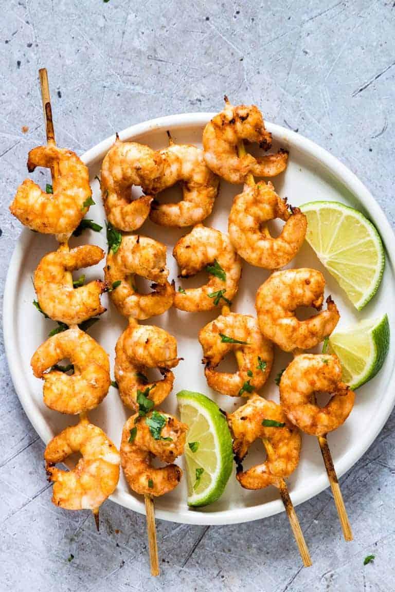 Air Fryer shrimp skewers 29