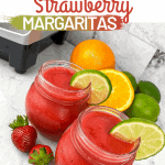 Delicious Frozen Strawberry Margaritas | kimschob.com