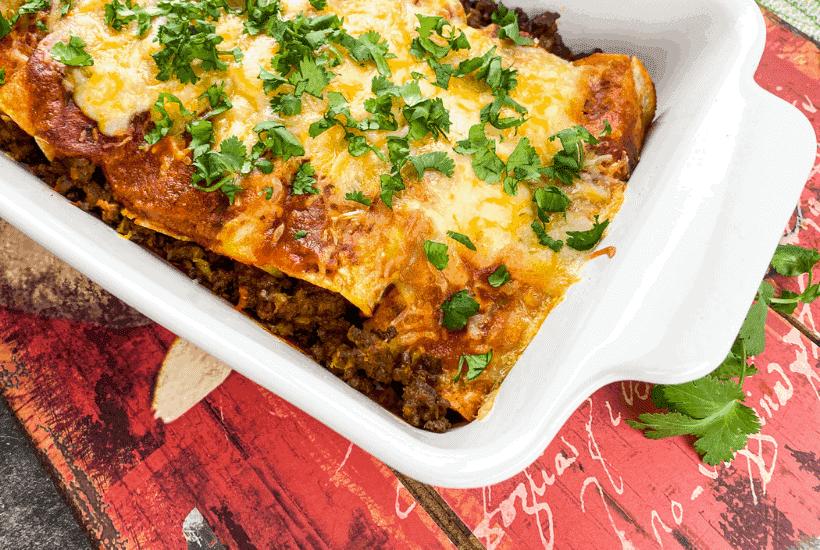 Easy Beef Enchiladas | kimschob.com