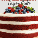 Light and Fresh Triple Berry Layer Cake | kimschob.com