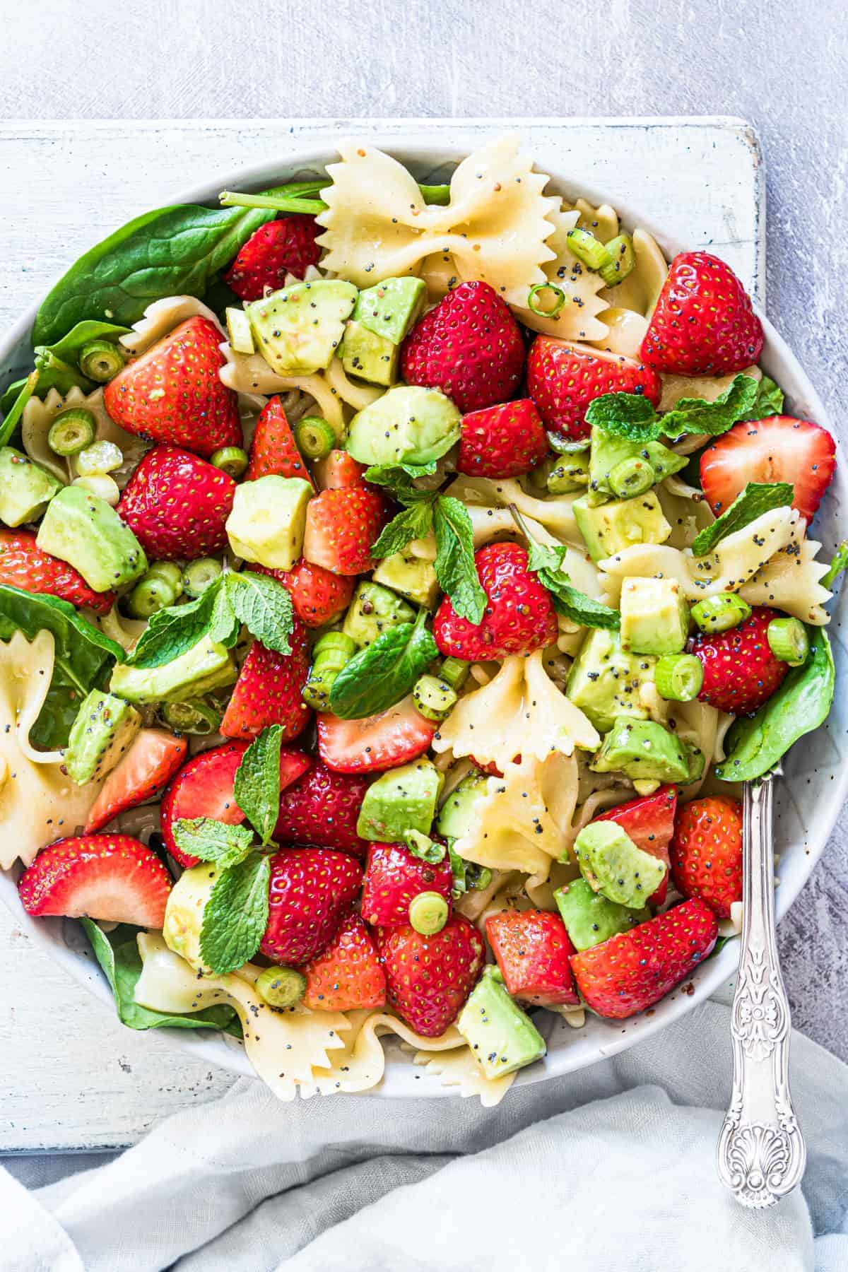strawberry avocado pasta salad 12 of 21 1
