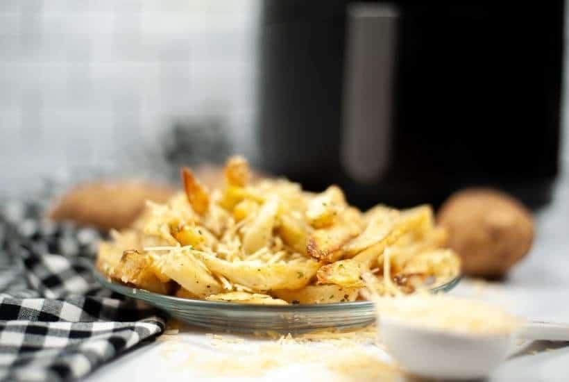 Air Fryer Garlic Parmesan Fries | kimschob.com