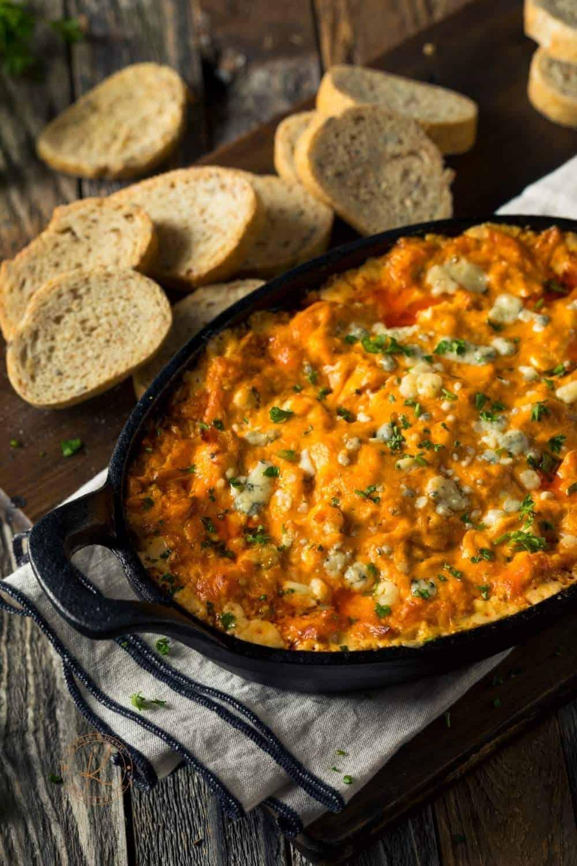 Slow Cooker Spicy Buffalo Chicken Dip | kimschob.com